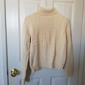 Tommy Hilfiger Cream Turtle Neck Sweater